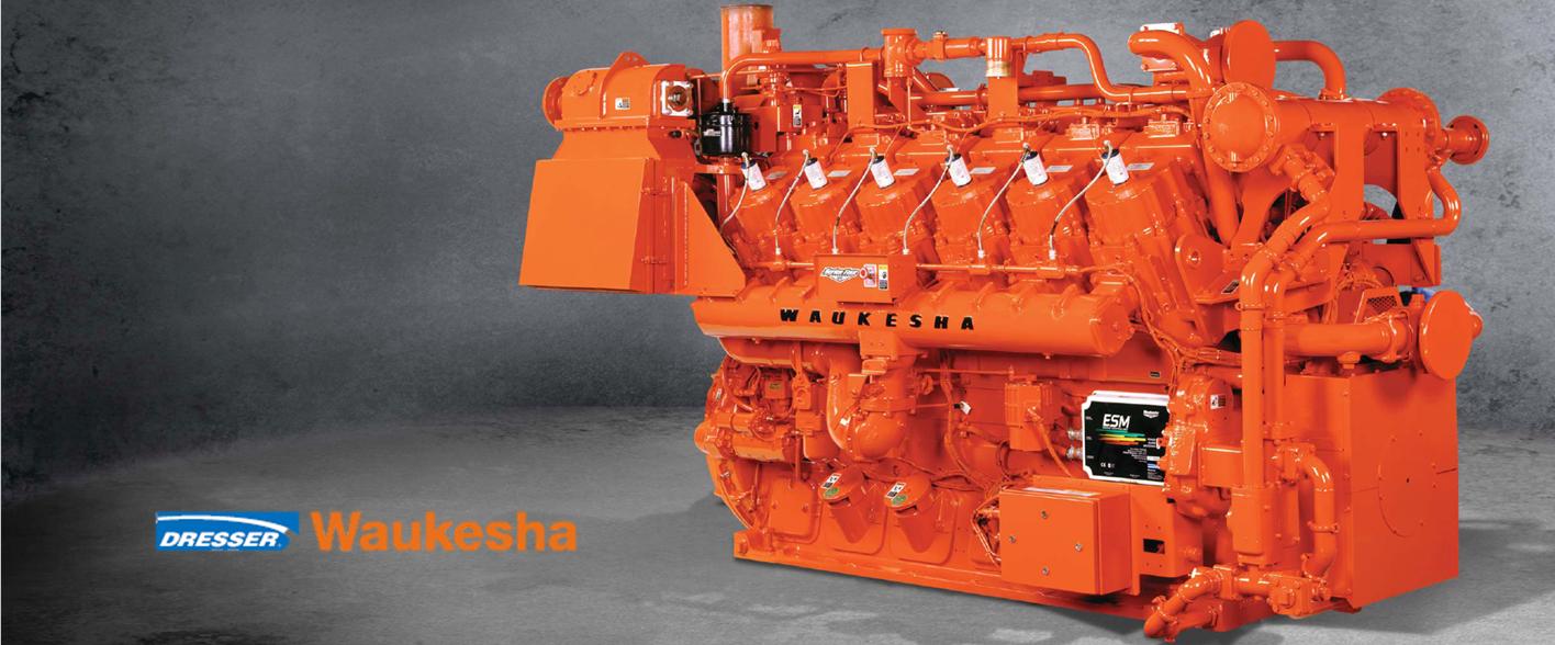 Промышленные газопоршневые двигатели Waukesha