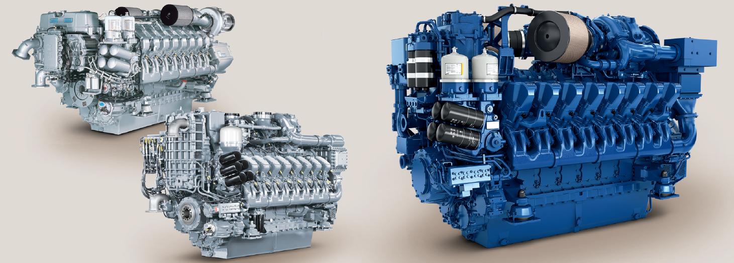 Судовые двигатели MTU
