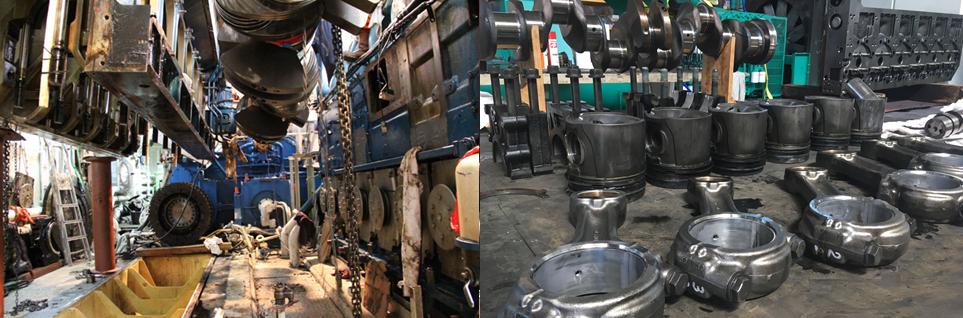 ремонт судовых двигателей