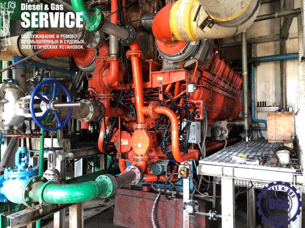 Двигатель Waukesha 16V275GL полностью собран